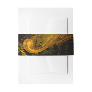 Breaking Point Abstract Art Invitation Belly Band