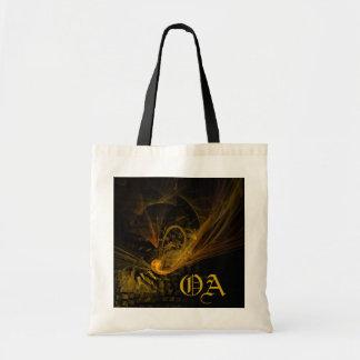 Breaking Point Abstract Art Monogram Bag