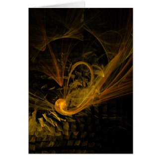 Breaking Point Abstract Art Note Card