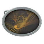 Breaking Point Abstract Art Oval Belt Buckles