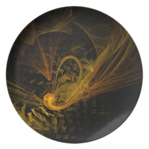 Breaking Point Abstract Art Plate
