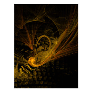 Breaking Point Abstract Art Postcard
