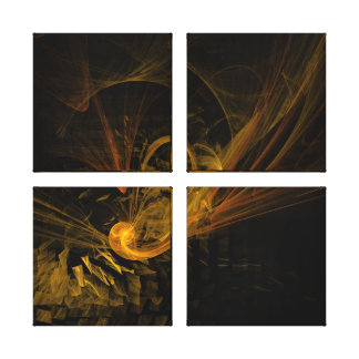 Breaking Point Abstract Art Quad Canvas Print