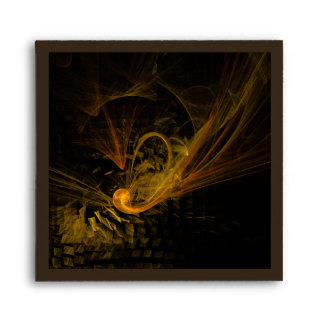 Breaking Point Abstract Art Square Envelope