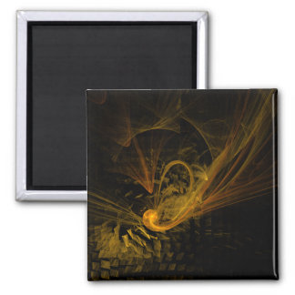 Breaking Point Abstract Art Square Magnet