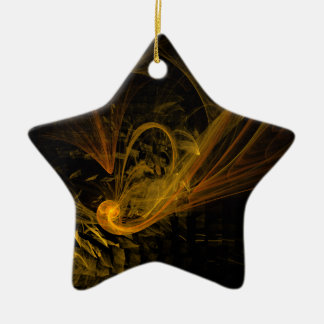 Breaking Point Abstract Art Star Ornament