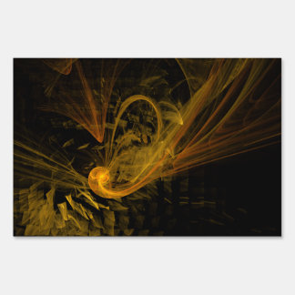 Breaking Point Abstract Art Yard Sign