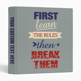 Breaking Rules custom binders