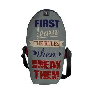 Breaking Rules custom monogram messenger bags