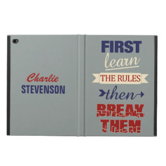 Breaking Rules custom name device cases