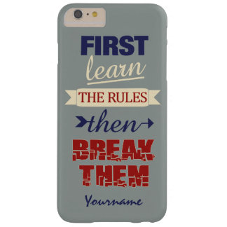 Breaking Rules custom phone cases Barely There iPhone 6 Plus Case
