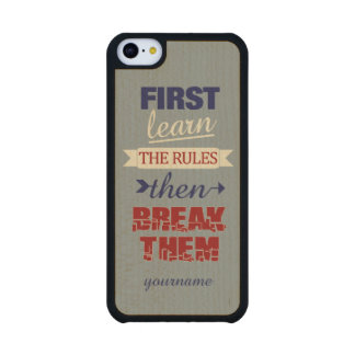 Breaking Rules custom phone cases Carved® Maple iPhone 5C Case