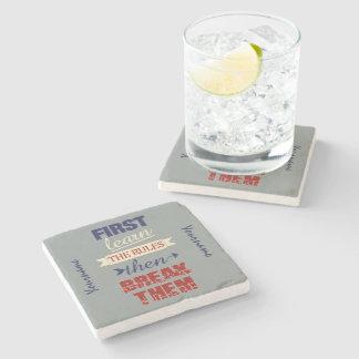 Breaking Rules custom stone coasters Stone Beverage Coaster