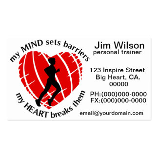 Breaking Sports Barriers Personal Trainer  Busines Business Card