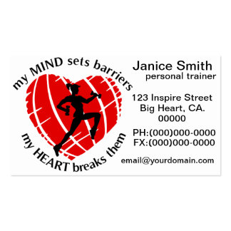 Breaking Sports Barriers Personal Trainer Business Business Card