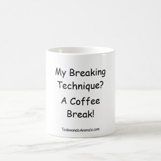 breaking technique coffee mug