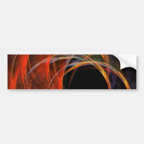 breaking, circle, abstract, art, bumper, sticker, Bumper Sticker with custom graphic design