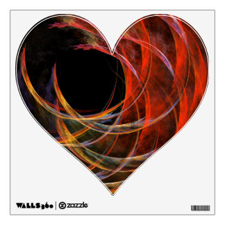Breaking the Circle Abstract Art Heart Wall Sticker