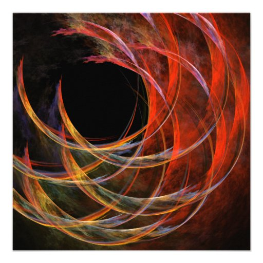 Breaking the Circle Abstract Art Invites