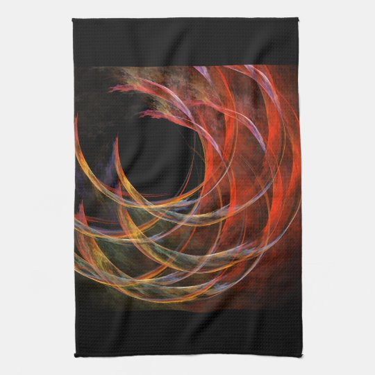 Breaking the Circle Abstract Art Kitchen Towel