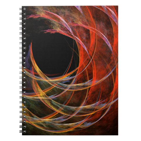 Breaking the Circle Abstract Art Notebook