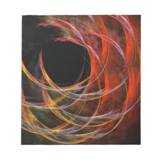 Breaking the Circle Abstract Art Notepad