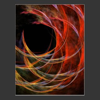 Breaking the Circle Abstract Art Postcard