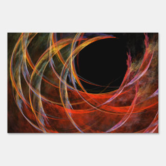 Breaking the Circle Abstract Art Sign