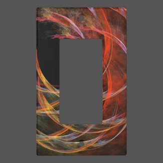 Breaking the Circle Abstract Art Single Rocker Light Switch Cover