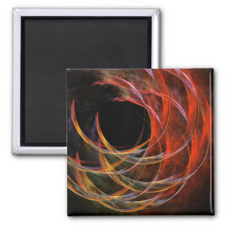Breaking the Circle Abstract Art Square Magnet