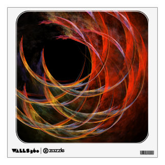 Breaking the Circle Abstract Art Square Wall Decal