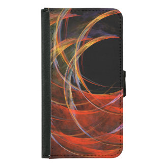 Breaking the Circle Abstract Art Wallet Case