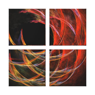 Breaking the Circle Abstract Quad Canvas Print