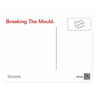 Breaking The Mould -product. Postcard