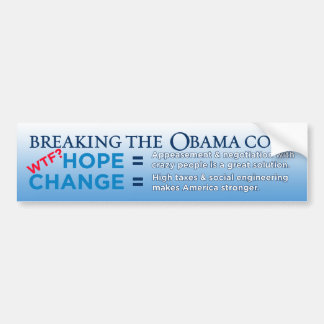 Breaking The Obama Code Bumper Sticker