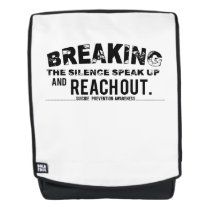 Breaking The Silence Suicide Prevention Awareness Backpack