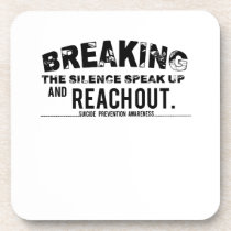 Breaking The Silence Suicide Prevention Awareness Beverage Coaster