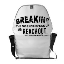 Breaking The Silence Suicide Prevention Awareness Courier Bag