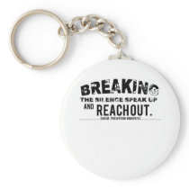 Breaking The Silence Suicide Prevention Awareness Keychain