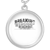 Breaking The Silence Suicide Prevention Awareness Silver Plated Necklace