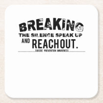 Breaking The Silence Suicide Prevention Awareness Square Paper Coaster
