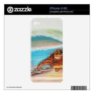 Breaking the Water's Crest Sea Turtle iPhone 4 Decals