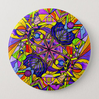 """Breaking Through Barriers"" 4 Inch Button"