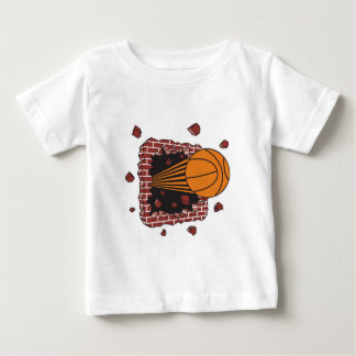 breaking through bricks basketball baby T-Shirt