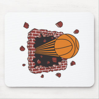 breaking through bricks basketball mouse pad
