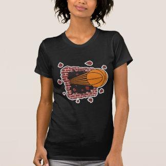 breaking through bricks basketball T-Shirt