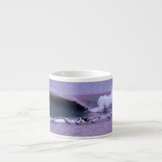 Breaking Wave and Seagulls Espresso Cup