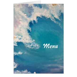Breaking wave menu card