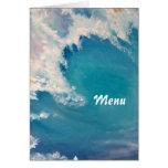 Breaking wave menu greeting cards