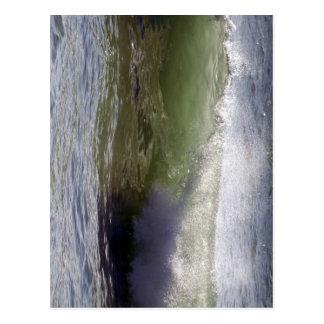 Breaking wave postcard